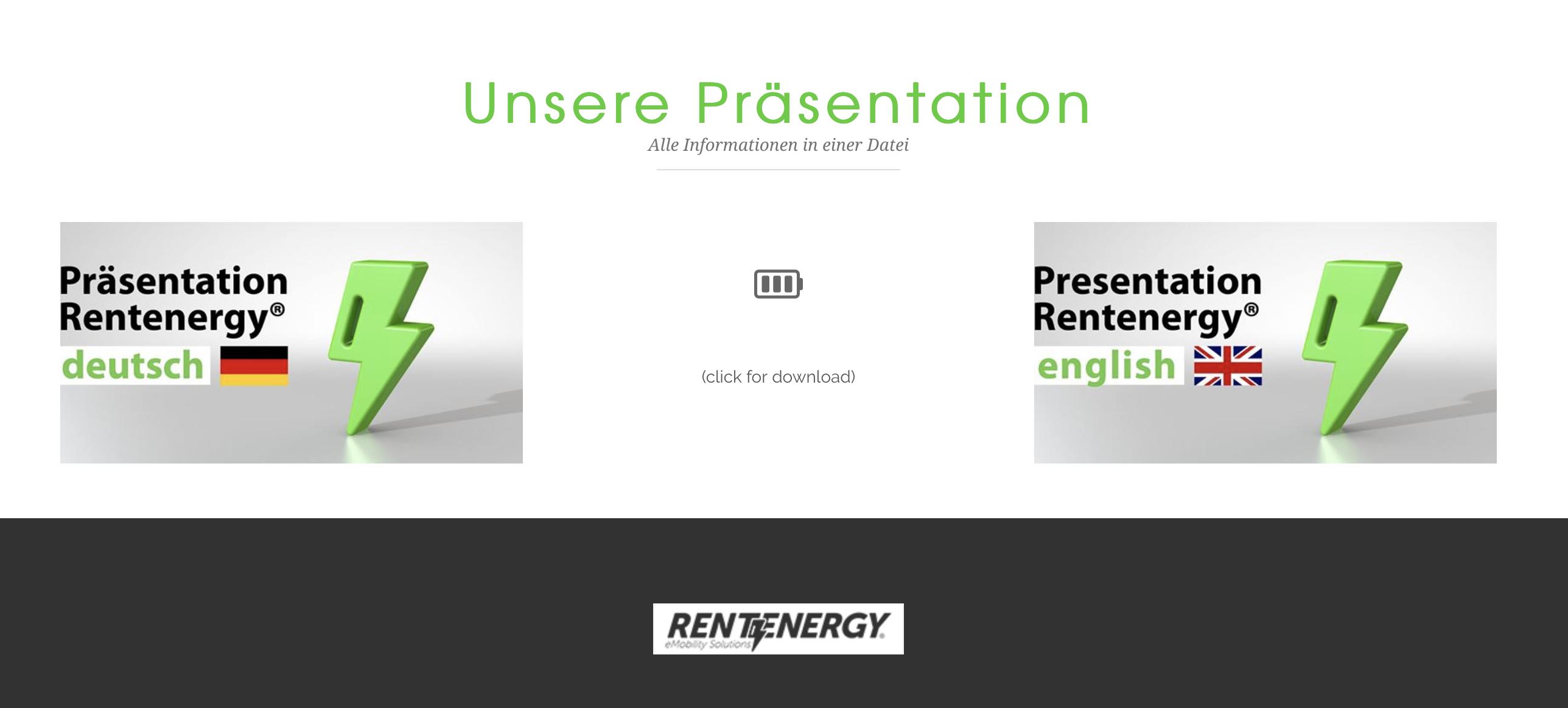 Rentenergy kompakt auf den Punkt gebracht – Aktualisierung unserer Präsentation