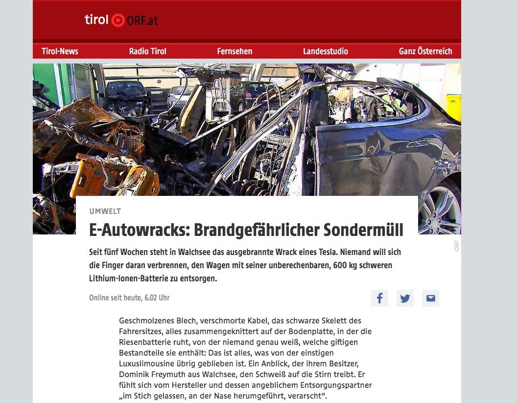 Wenn den ausgebrannten 100.000 Euro-Tesla keiner haben will